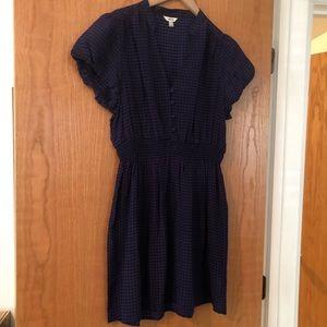 Dresses & Skirts - 100% Silk Purple and Black Houndstooth Dress